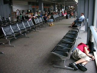Sleeping-in-airport